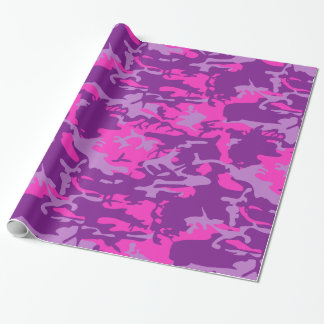 Pink and Purple Camo Wrapping Paper