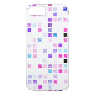 Pink and Purple Checkered iPhone 7 Phone Case