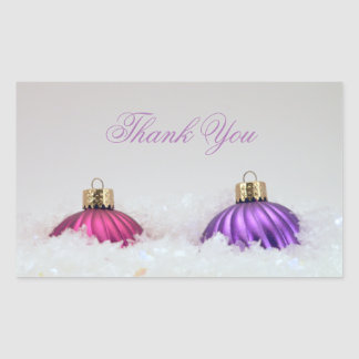 Pink and Purple Christmas Ornaments