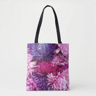 Pink And Purple Chrysanthemums Tote Bag