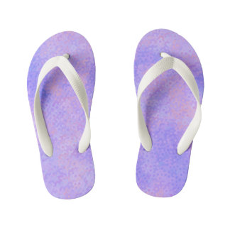 Pink and Purple Circles Kid's Flip Flops