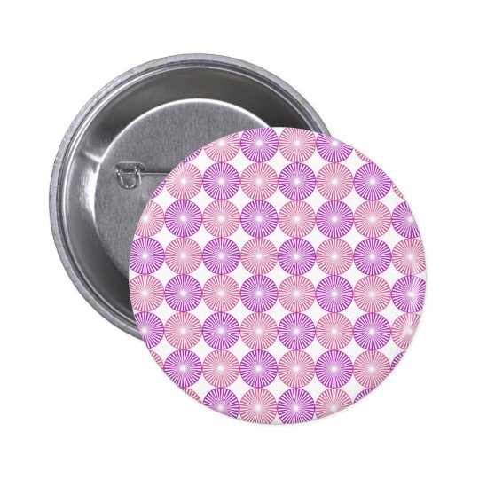 Pink and purple circles pattern 2 inch round button