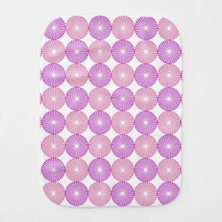 Pink and purple circles pattern baby burp cloth