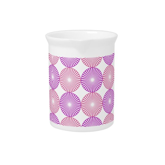 Pink and purple circles pattern beverage pitcher