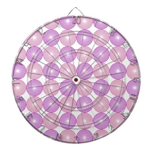 Pink and purple circles pattern dart boards