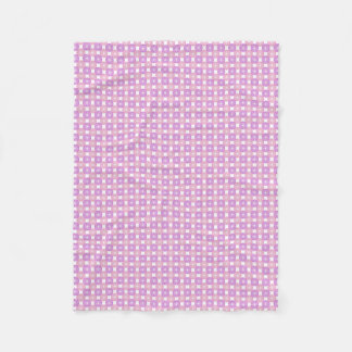 Pink and purple circles pattern fleece blanket