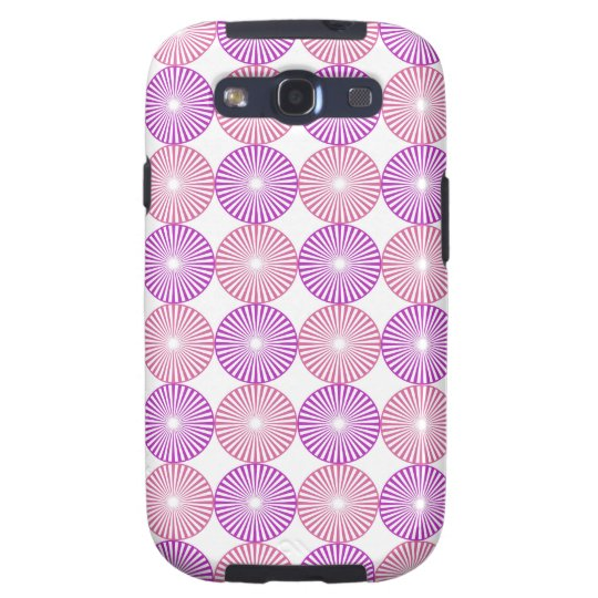 Pink and purple circles pattern galaxy SIII cases
