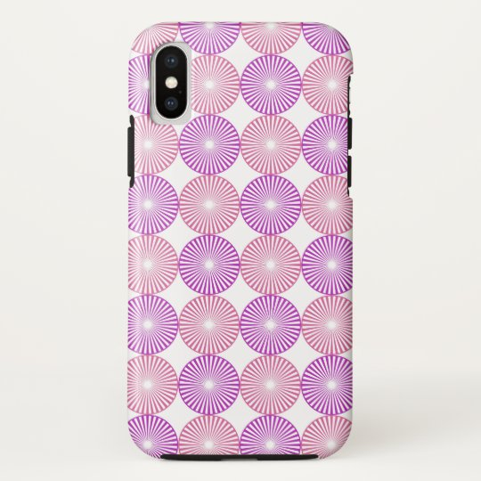 Pink and purple circles pattern HTC vivid case