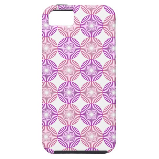 Pink and purple circles pattern iPhone 5 cover