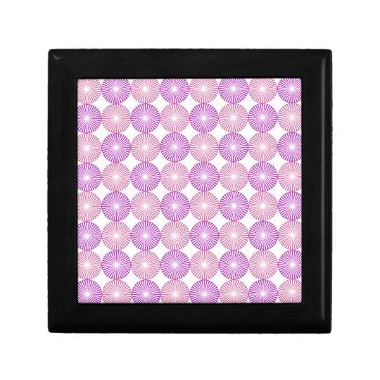 Pink and purple circles pattern jewelry box
