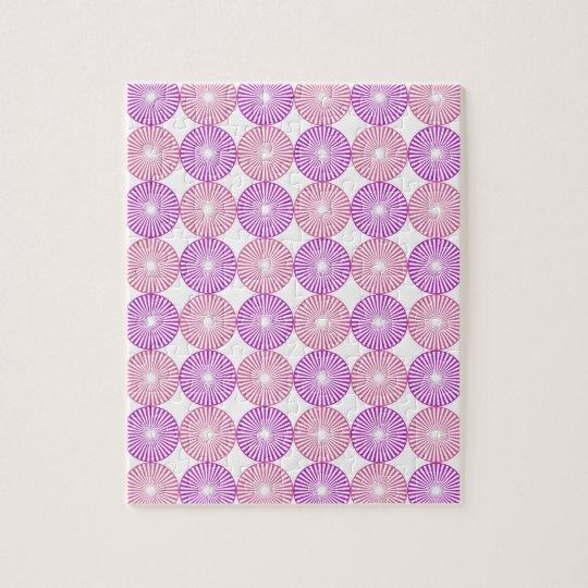 Pink and purple circles pattern jigsaw puzzle