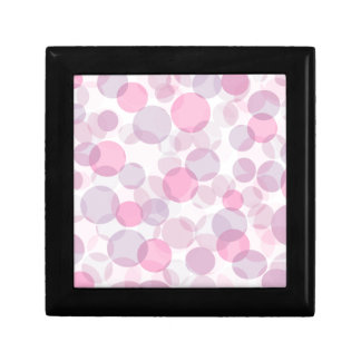 Pink and purple circles pattern keepsake box