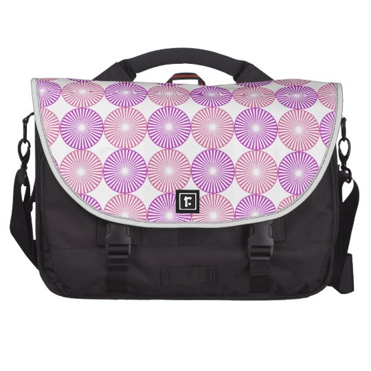 Pink and purple circles pattern laptop computer bag