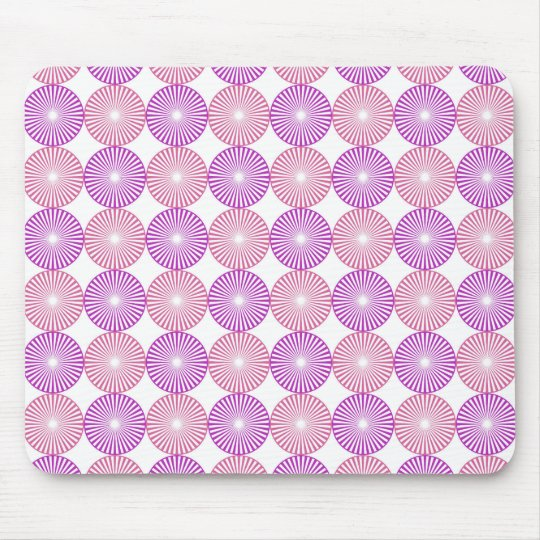 Pink and purple circles pattern mouse pad