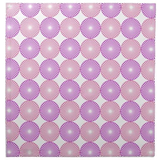 Pink and purple circles pattern napkin