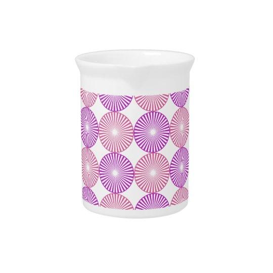 Pink and purple circles pattern pitcher