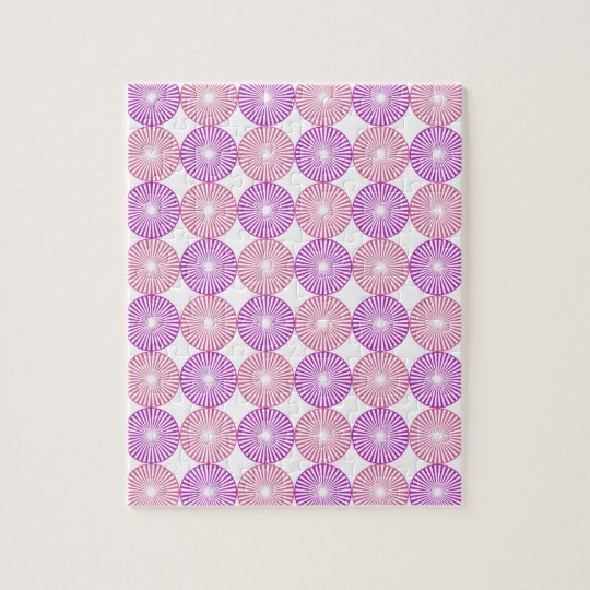 Pink and purple circles pattern puzzles