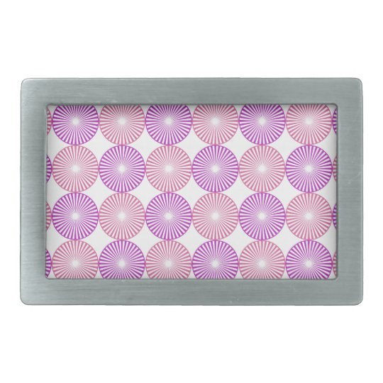 Pink and purple circles pattern rectangular belt buckles