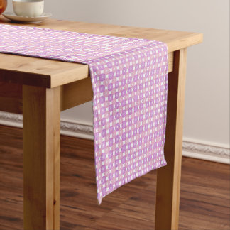Pink and purple circles pattern short table runner