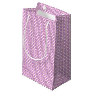 Pink and purple circles pattern small gift bag