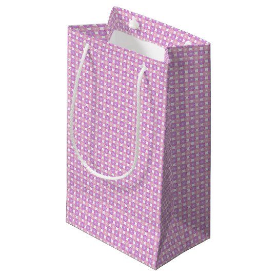 Pink and purple circles pattern small gift bag
