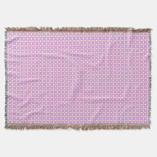 Pink and purple circles pattern throw blanket