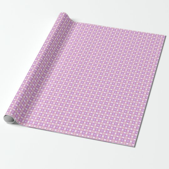 Pink and purple circles pattern wrapping paper