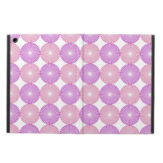 Pink and purple circular pattern iPad air case