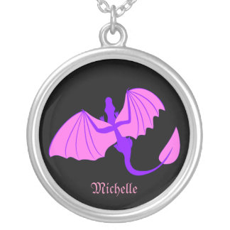 Pink and Purple Dragon Necklace