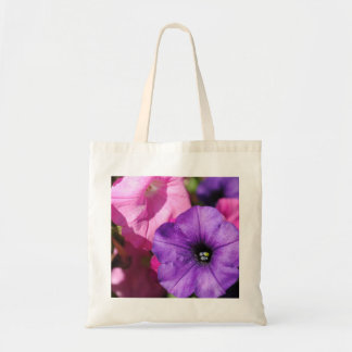 Pink and Purple Fall Petunias Tote Bag