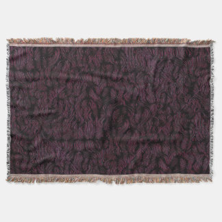 Pink and Purple Fire Stone Throw Blanket