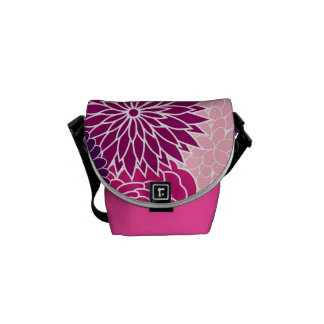 Pink and Purple Floral Courier Bag