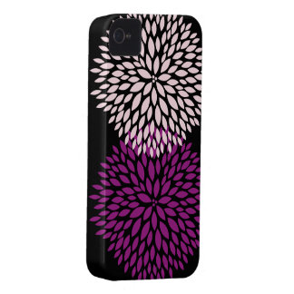 Pink and Purple Flower Blossoms iPhone 4 Case-Mate Cases
