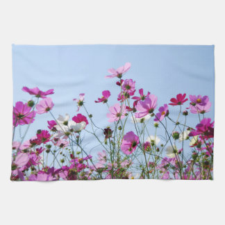 Pink and Purple Flower Meadow Kitchen Towel