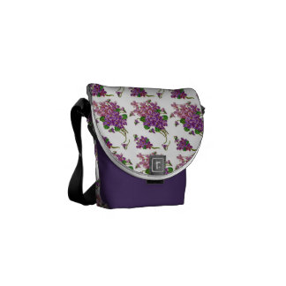 Pink And Purple Flowers Commuter Bag