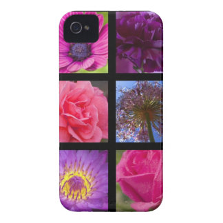 Pink and Purple Flowers iPhone 4 Case