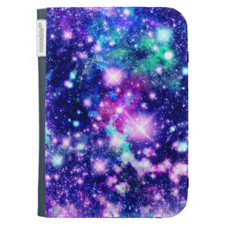 Pink and Purple Galaxy Stars Kindle Keyboard Covers