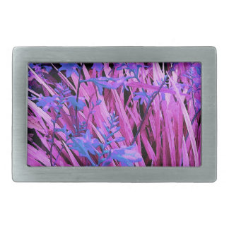 Pink and purple garden belt buckle