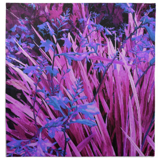 Pink and purple garden napkin
