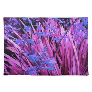 Pink and purple garden placemat