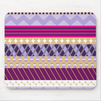Pink and Purple Geometric Patterned Mouse Pad
