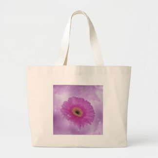 Pink and purple Gerber Daisy Canvas Bags