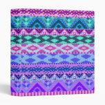 Pink and Purple Girly Aztec Vinyl Binders