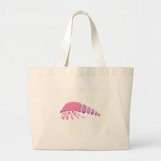 Pink and Purple Hermit Crab Large Tote Bag