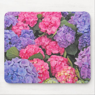 Pink and Purple Hydrangeas Flowers 2 - Mouse Pad