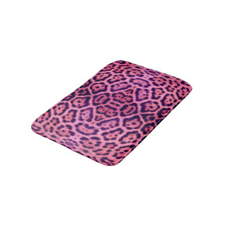Pink and Purple Jaguar Fur Bath Mat