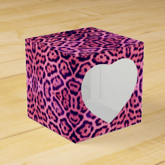 Pink and Purple Jaguar Fur Favor Box
