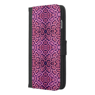 Pink and Purple Jaguar Fur iPhone 6/6s Plus Wallet Case