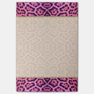 Pink and Purple Jaguar Fur Post-it Notes