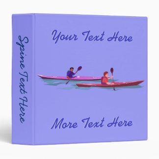 Pink and Purple Kayaks Binder